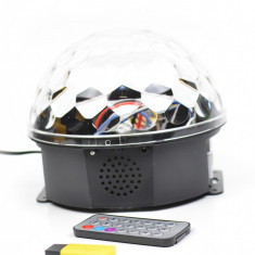 Glob de lumini cu senzor de muzica MP3 Led Magic Ball Light- MP3LMB
