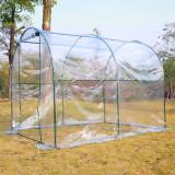 Outsunny Seră pentru Grădină pentru Plante tip Tunel din PVC, 250x200x200cm