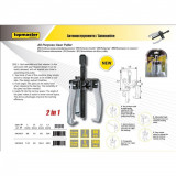 Extractor multiplu 2 in 1,2 T forta, 80mm, 3 brate Cr-Mo