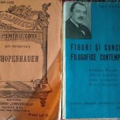 2 carti princeps Ion Petrovici, filosofie