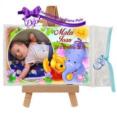 Marturii botez magneti Handmade by Diana Puiu Winnie the Pooh MDBW 10