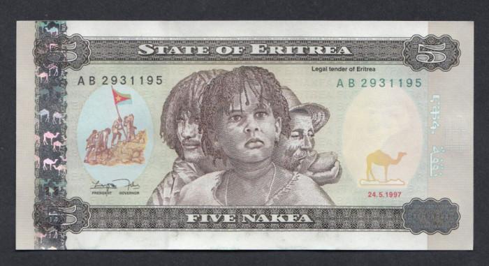 A5886 Eritrea Eritreea 5 nakfa 1997 UNC