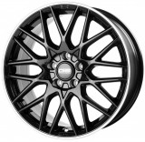 Janta aliaj CMS C25 7x17 5x112 ET 40 Diamond Rim Black, 17, 7, 5