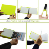 Album FotoCarte 10x15, hartie foto inclusa, personalizabil, piele ecologica, Magic Green