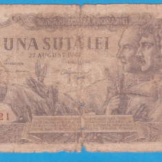 (23) BANCNOTA ROMANIA - 100 LEI 1947 (27 AUGUST 1947)