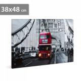 Tablou cu Iluminare LED, London Bus, Baterii 2xAA, 38x48cm