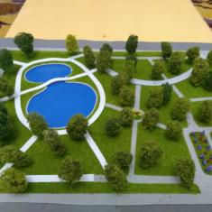 Macheta de parc cu lac