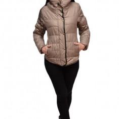Jacheta moderna de toamna, primavara, culoare gri, fara gluga