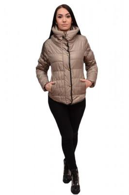 Jacheta moderna de toamna, primavara, culoare gri, fara gluga foto