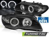 Faruri compatibile cu BMW Seria 3 E46 03-06 COUPE Angel Eyes CCFL Negru