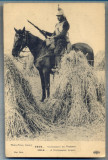 AX 118 CP VECHE INTERBELICA -MILITARA- ANUL 1914 -CALARET ECHIPAT DE LUPTA, Franta, Necirculata, Printata