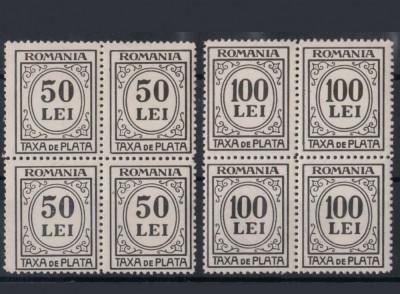 Romania 1942, taxa de plata, porto x 4 ,mnh foto