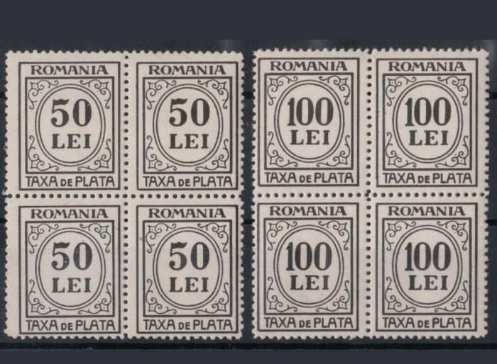 Romania 1942, taxa de plata, porto x 4 ,mnh
