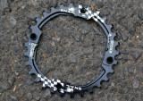 Snail Narrow Wide CNC foaie aluminiu MTB 30t - BCD104mm - Negru