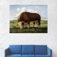Tablou Canvas, Peisaj Animal la Pascut - 80 x 100 cm