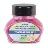 Cerneala perlata caligrafie roz Standardgraph 30 ml