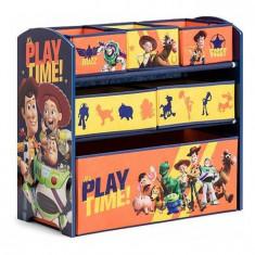 Organizator jucarii cu cadru din lemn Toy Story, Multicolor