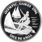 Tonga 1 Pa'anga 1992 - (Sailing) Argint 31.6g/925, Aoc1 KM-156 UNC !!!