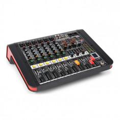 Power Dynamics PDM-M604A, mixer muzical, 6 intrări de microfon, procesor multi-fx 24 biți, player usb