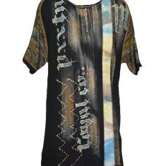 Tricou barbatesc de zi cu design rock,nunta neagra, L, Negru