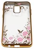 Cumpara ieftin Husa Spate Forcell Flower Diamond Samsung A6 2018 Gold