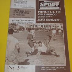 "Revista ""SPORT"" martie 1967 (U Craiova,Progresul,Steagul Rosu Brasov)"