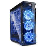 Cumpara ieftin Carcasa Gaming Segotep LUX II V2, MiddleTower, Panou transparent, Iluminare LED
