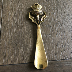 Incaltator,lingura de pantofi veche din bronz masiv
