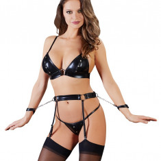 Latex Bondage Suspender Set