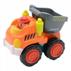Jucarie pentru baieti camion de gunoi Huile Toys 3116BM, Multicolor