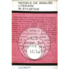 Modele de analize literare si stilistice, vol. III