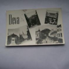 C.P. DEVA  CU 5 VEDERI DIN ORAS  AN 1960, Circulata, Fotografie