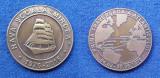 Medalia nava scoala Bricul Mircea - medaie marina militara - Rara