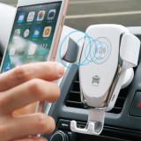 Cumpara ieftin Incarcator auto universal, wireless, antisoc, antialunecare, rotire 360 °, alb, Gonga