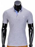 Cumpara ieftin Tricou pentru barbati polo, gri-deschis, slim fit, casual - S837