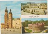Vedere Krakow- Polonia, Circulata, Printata