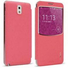Husa Activa Samsung Galaxy Note 3 N9000 Usams Beca Series Roz, Piele Ecologica
