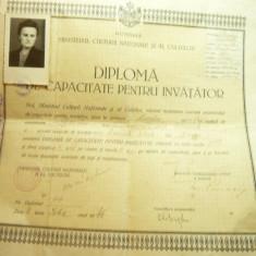 Diploma de Capacitate pt. Invatator in Bacau 1946 cu examinare 1944