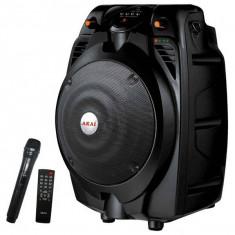 Boxa activa portabila Akai SS022A-X6 30W Bluetooth Microfon Negru foto