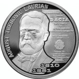 Moneda Romania 10 Lei 2010 - KM#272 Proof ( August Treboniu Laurian )