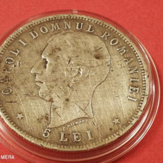 Romania 5 Lei 1906 in capsula
