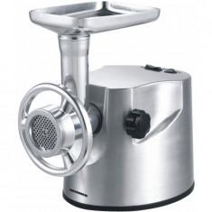 Masina de tocat carne PowerMix 2000 XMG-2000, 2kg/min , functie reverse, accesoriu pentru carnati, accesoriu pentru kibbe, cutit inox, carcasa din alu