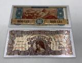 500 LEI 1947 (REPLICA/REPRODUCERE) POLIMER (PLASTIC) PLACATA CU ARGINT 999‰