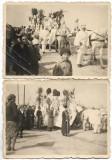 C1169 2 poze inmormantare cai mascati Bucuresti 1939 Romania perioada regalista