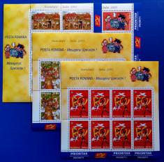 ROMANIA 2005 - Inundatii II Iulie - Coala de 8 timbre MNH - LP 1692 a foto