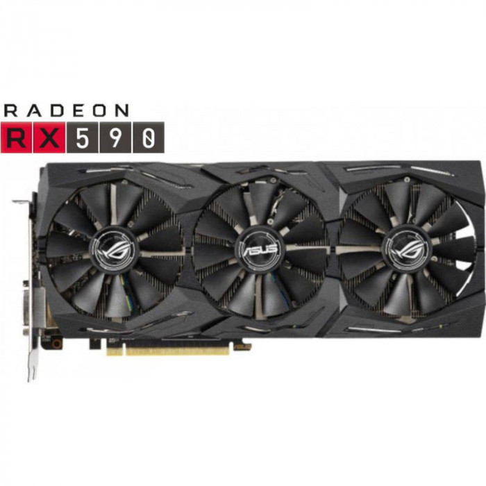 Placa video Asus AMD Radeon RX 590 STRIX GAMING 8GB GDDR5 256bit