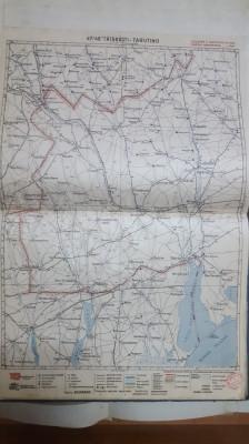 Harta Tătărăști, Tarutino, Burgugia, Ciuleni, Sadaclia, Avdarma, 1929 foto