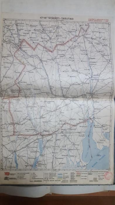 Harta Tătărăști, Tarutino, Burgugia, Ciuleni, Sadaclia, Avdarma, 1929