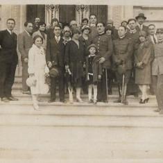Fotografie ofiteri romani cu sabii anii 1930