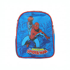 Ghiozdan gradinita mini Pigna Spiderman comics albastru SMRS1828-2
